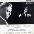 【オリジナル盤】 リヒター=ハーザー&カラヤンのブラームス/ピアノ協奏曲第2番 英Columbia 3029 LP レコード
