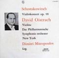 【モノラル】 オイストラフ&ミトロプーロスのショスタコーヴィチ/ヴァイオリン協奏曲第1番 独PHILIPS 2995 LP レコード