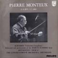 【モノラル】 モントゥーのシューベルト/交響曲第8番「未完成」ほか 蘭PHILIPS 2995 LP レコード