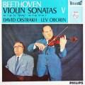 オイストラフ&オボーリンのベートーヴェン/ヴァイオリンソナタ「春」&第6番 蘭PHILIPS 3001 LP レコード