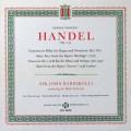チャドウィック&バルビローリのヘンデル/オルガン協奏曲第1番ほか 英PYE 2813 LP レコード