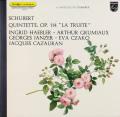 ヘブラー、グリュミオーらのシューベルト/ピアノ五重奏曲「ます」 仏PHILIPS 2731 LP レコード