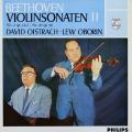 オイストラフ&オボーリンのベートーヴェン/ヴァイオリンソナタ第2&10番 蘭PHILIPS 2734 LP レコード