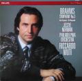 ムーティのブラームス/交響曲第3番&アルト・ラプソディ 蘭PHILIPS 2740 LP レコード
