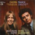 デュ・プレ&バレンボイムのショパン&フランク/チェロソナタ集 独EMI 2740 LP レコード