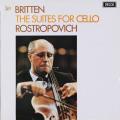 ロストロポーヴィチのブリテン/無伴奏チェロ組曲第1番、第2番 英DECCA 2741 LP レコード