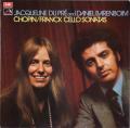 デュ・プレ&バレンボイムのショパン&フランク/チェロソナタ オリジナル盤 英EMI 2741 LP レコード