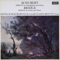 ロストロポーヴィチ&ブリテンのシューベルト/「アルペジオーネ」ソナタほか 英DECCA 2746 LP レコード