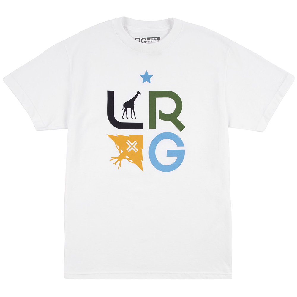 "LRG TREE STACK TEE ""WHITE"""