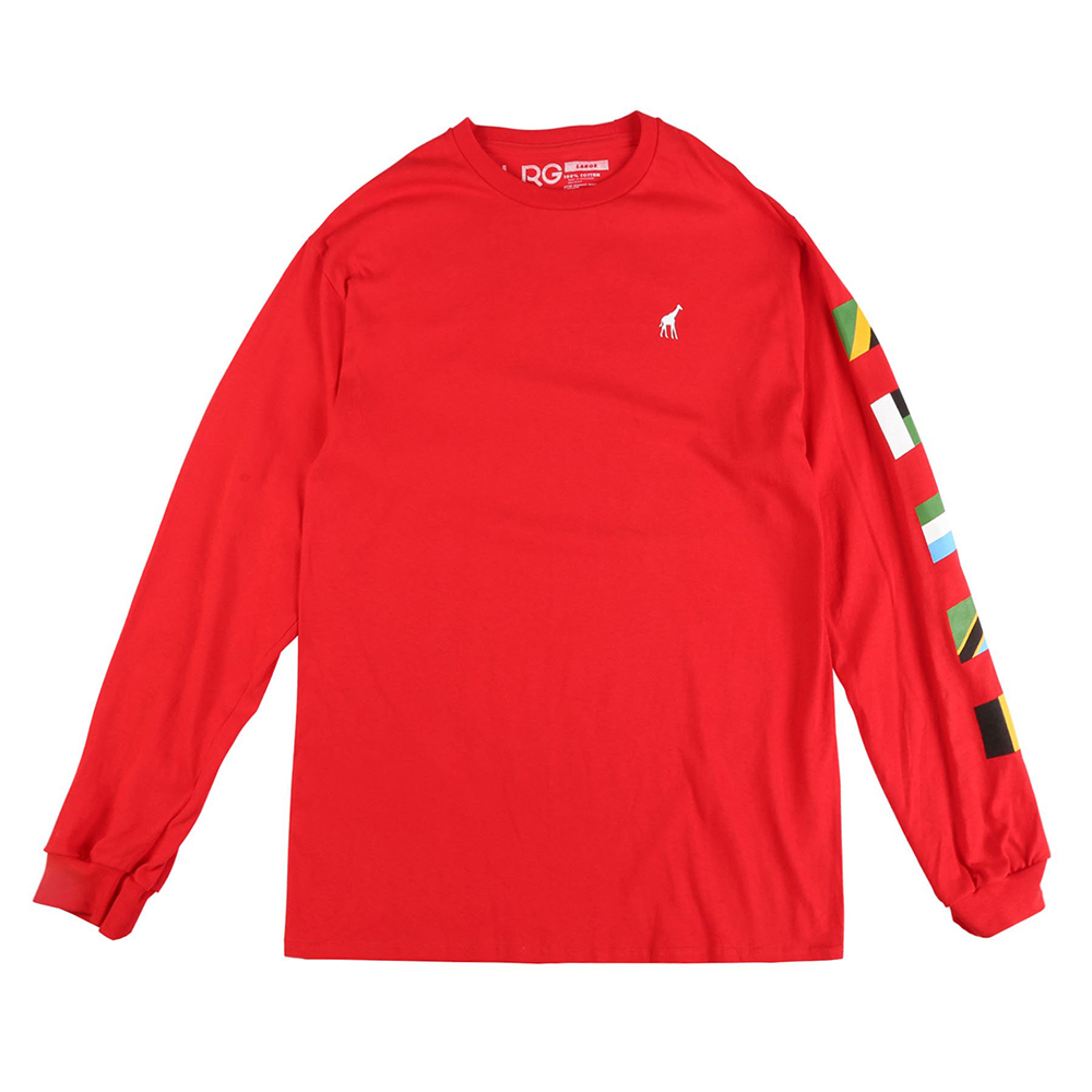 "UNITED NATIONS LS TEE ""RED"""