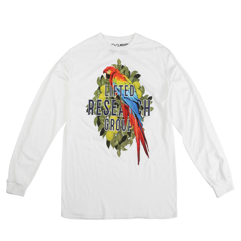 PARROT GROVE LS TEE / WHITE