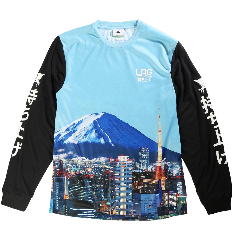 "MT FUJI LS TEE ""AIR BLUE"""