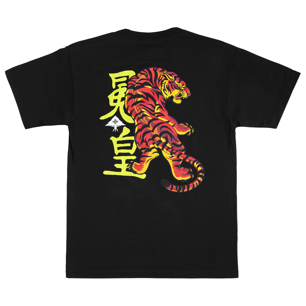 LIFTED TIGER TEE / BLACK