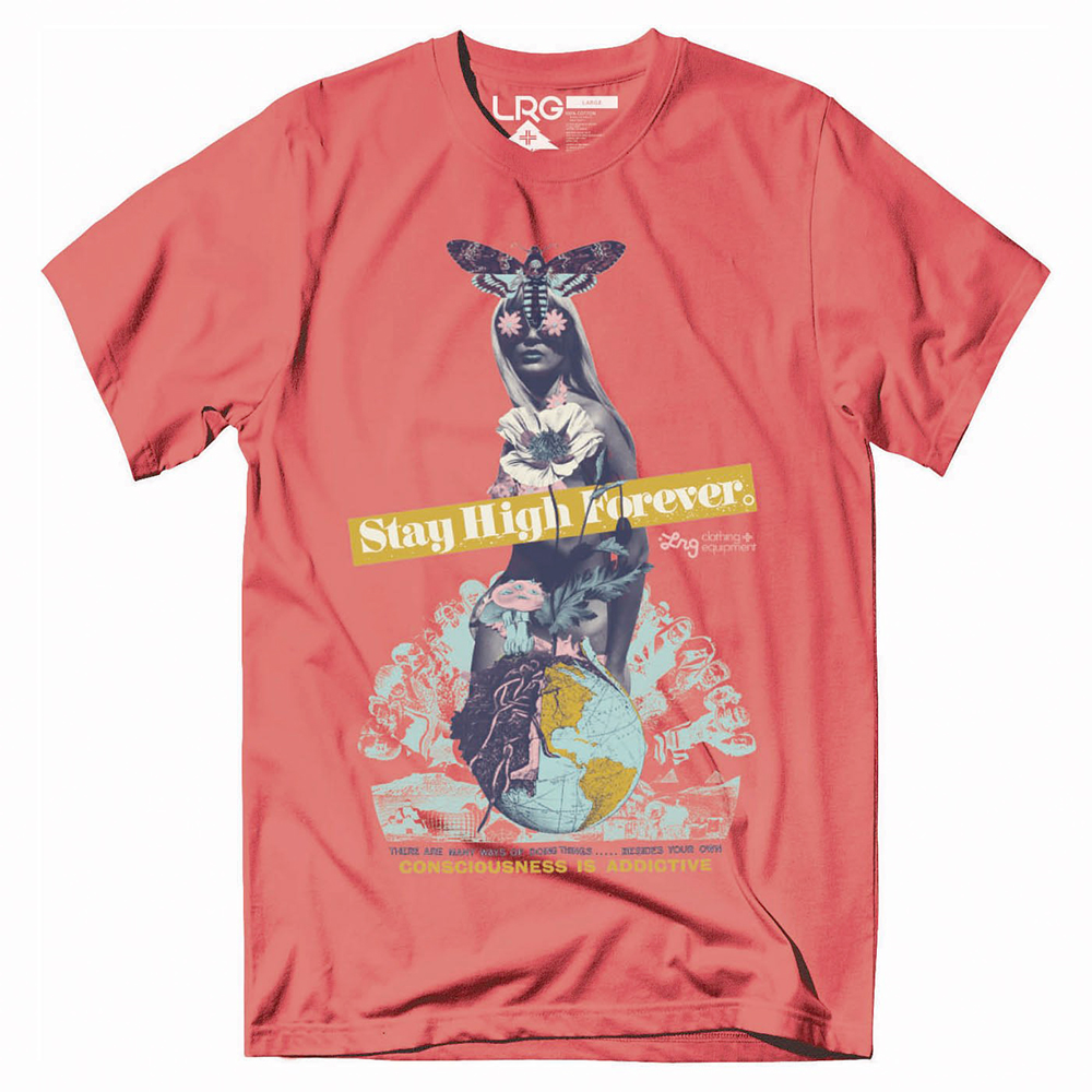 "STAY HIGH FOREVER TEE ""CORAL"""