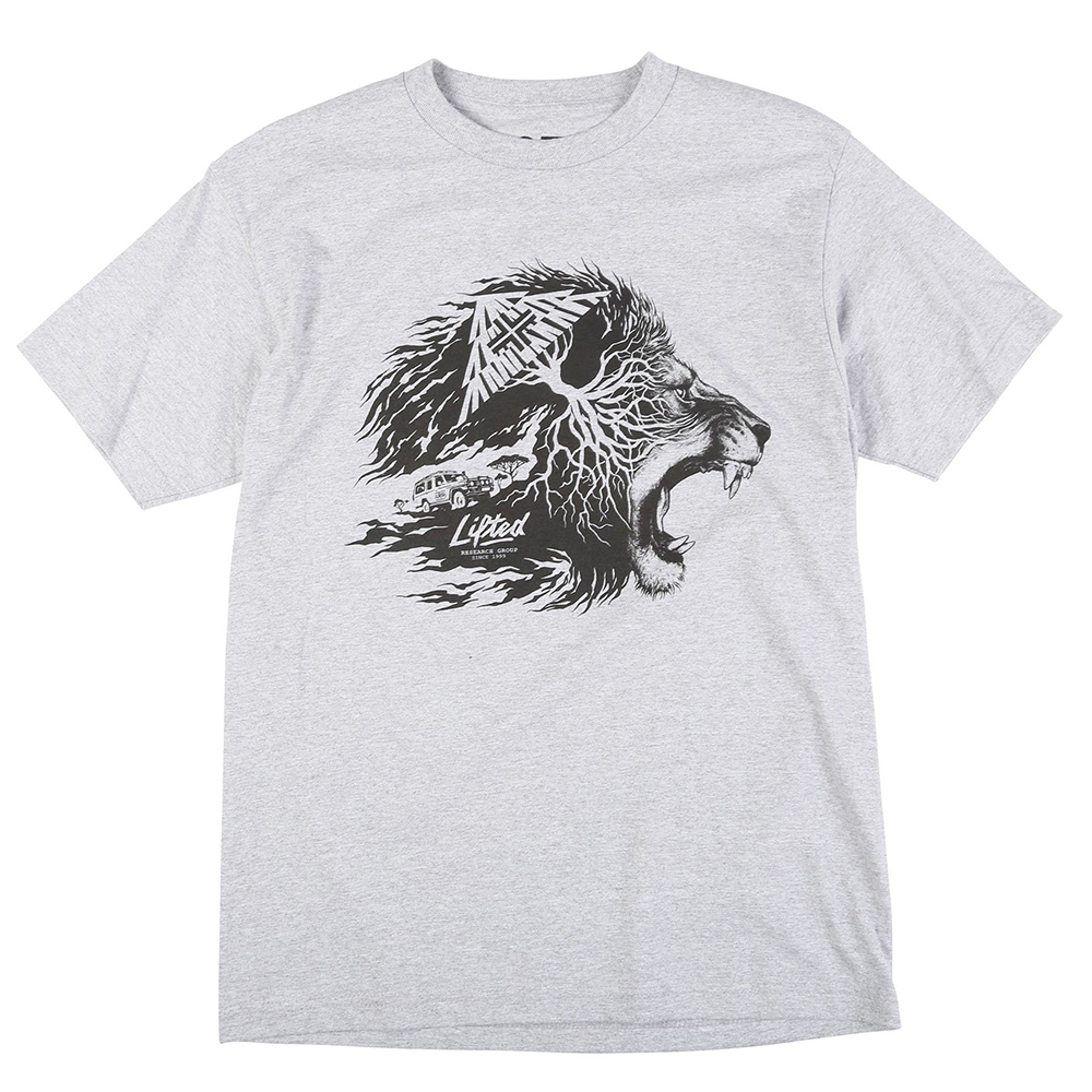 "LION ROOTS TEE ""ATHLETIC HEATHER"""