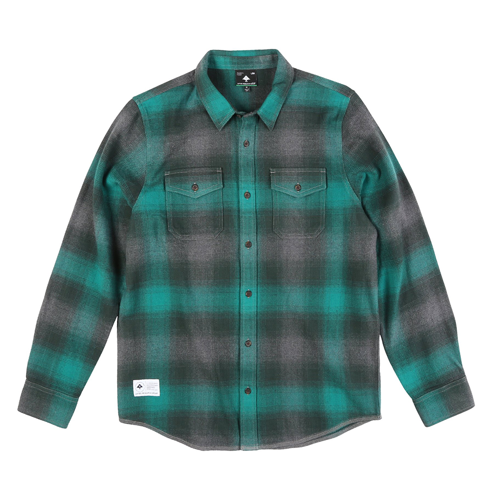 "INTERFERENCE FLANNEL ""QUETZAL GREEN"""