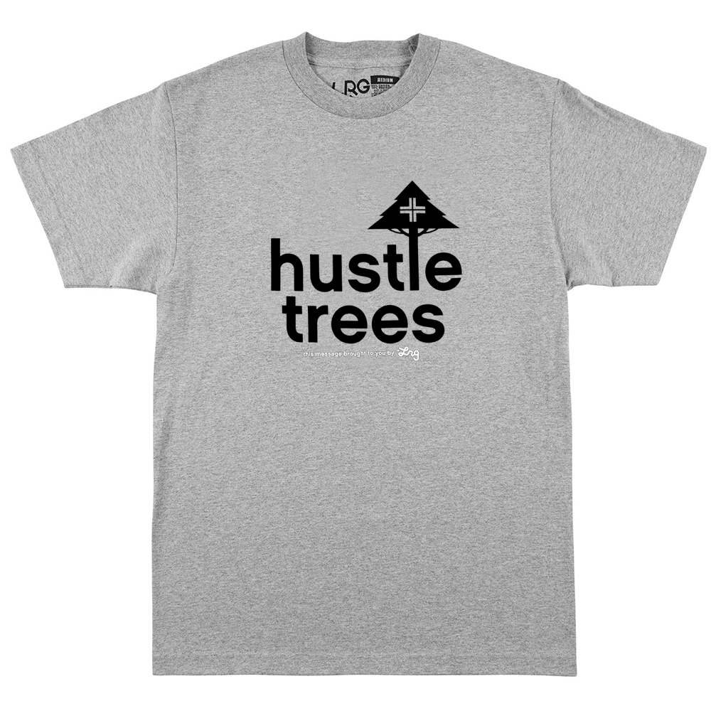 HUSTLE TREES TEE / ATHLETIC HTHR /BLACK