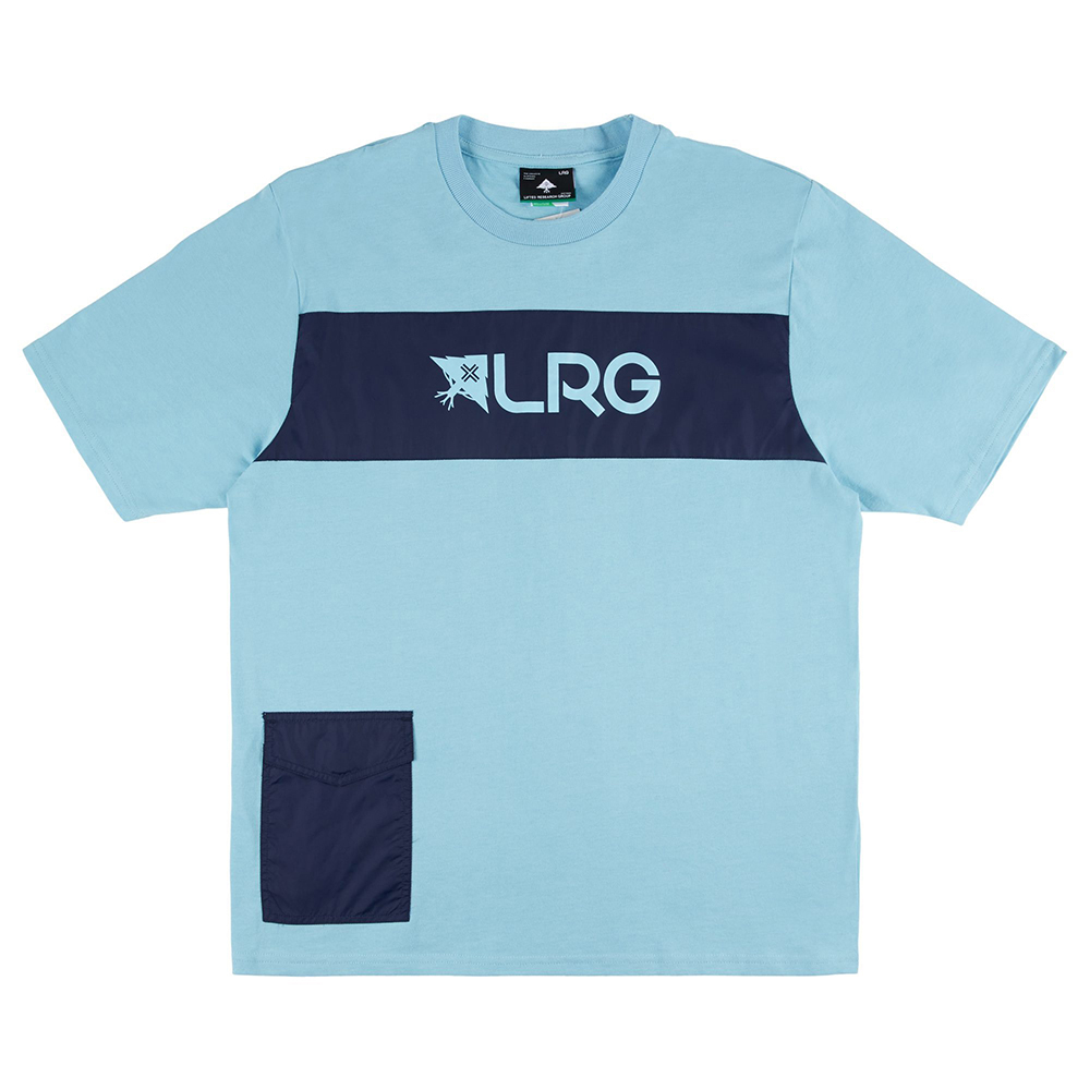 RIP AND STOP SS CREW TEE / SKY BLUE
