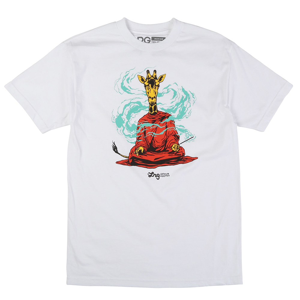 "MINDFUL MONK TEE ""WHITE"""