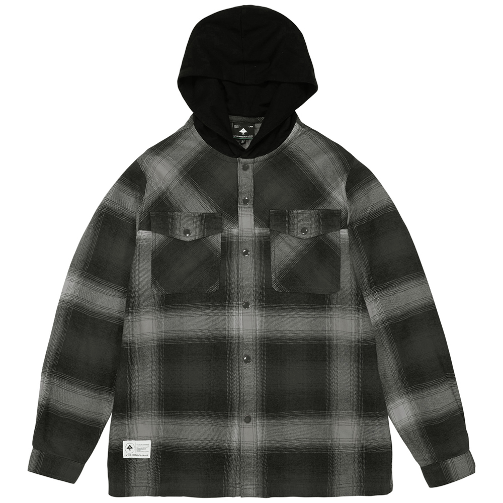 NIGHTSHADE HOODED FLANNEL / BLACK