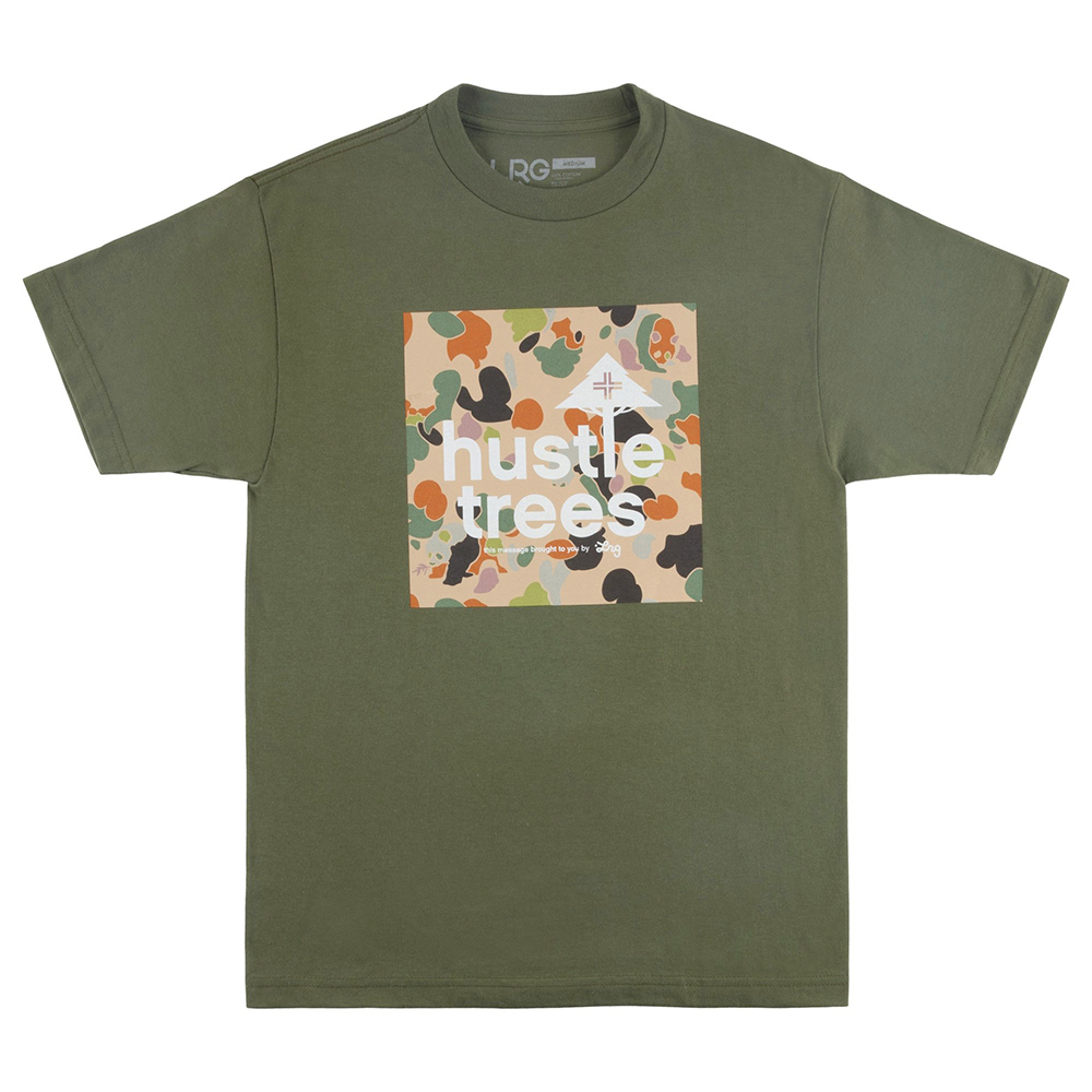 PANDA HUSTLE SS TEE / MILITARY GREEN