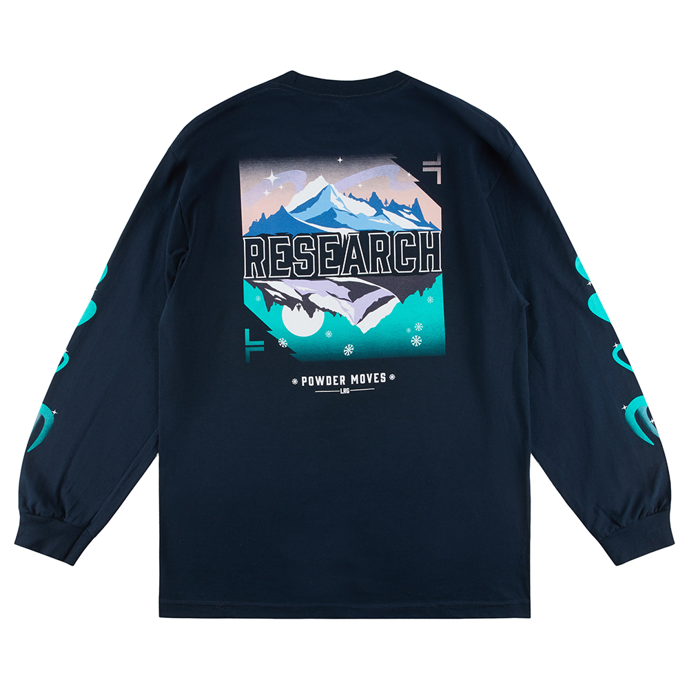 COLDER LIGHTS  LS TEE / NAVY