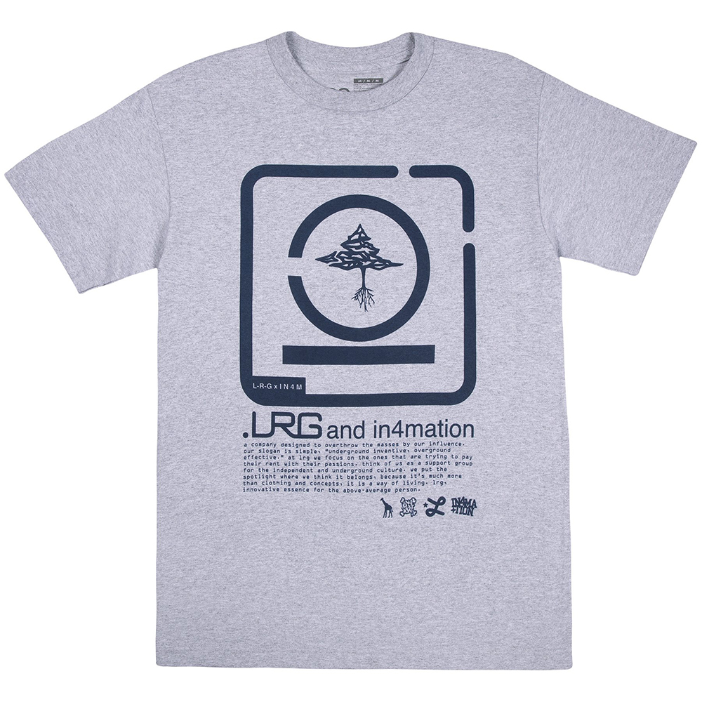 LRG x IN4MATION TEE / ATHLETIC HEATHER