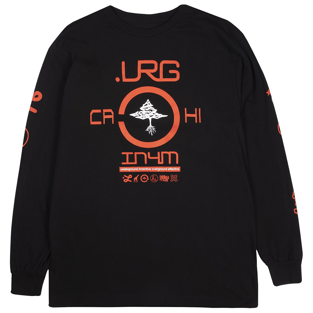 LRG x IN4MATION FINDAWAY LONG SLEEVE TEE / BLACK