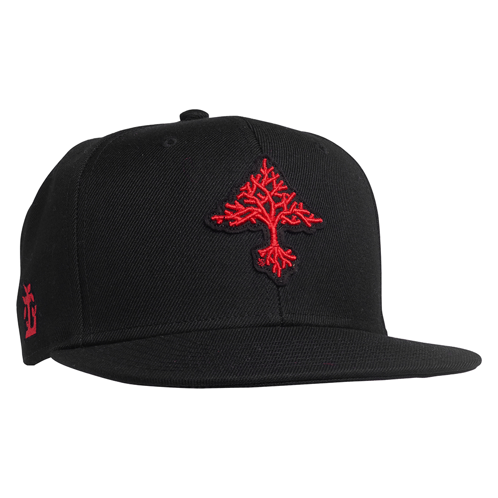 GROW TREES SNAPBACK HAT / BLACK