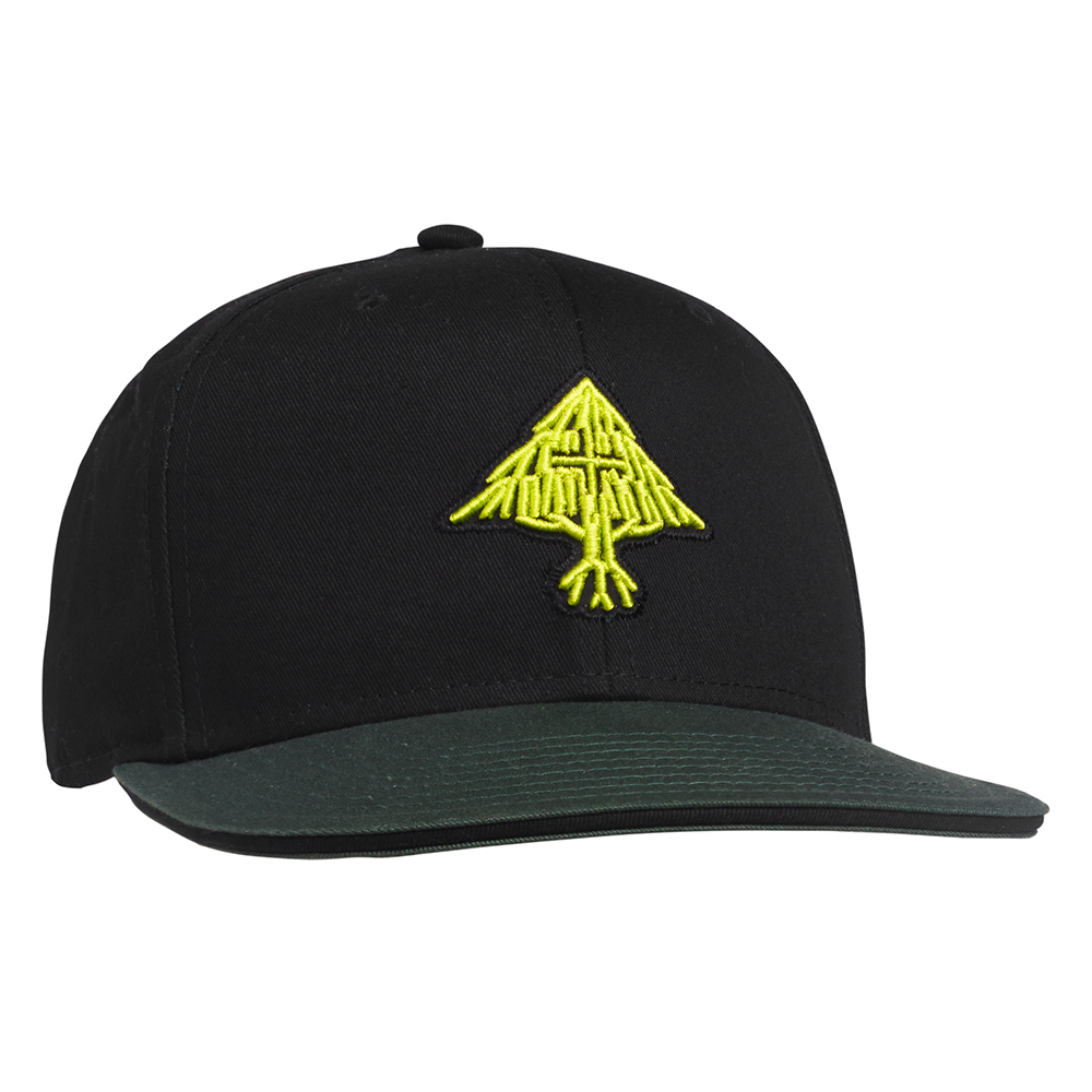 NATURAL ROOTS SNAPBACK HAT / BLACK