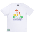 LIFE COLORS LRG TEE / WHITE
