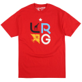 "LRG TREE STACK TEE ""RED"""