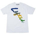 LIFTED SCRIPT FADE TEE / WHITE