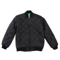 "RESEARCH QUILTED BOMBER JACKET ""BLACK"""
