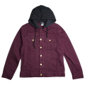 "TWO FOR ONE HOODED DENIM JACKET ""ZINFANDEL"""