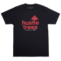 HUSTLE TREES TEE / BLACK/RED