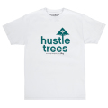 HUSTLE TREES TEE / WHITE/GREEN