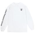 LOGO PLUS LS TEE / WHITE