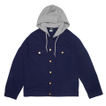 TWO FOR ONE HOODED JACKET / NAVY BLAZER