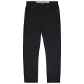 SLIM STRAIGHT TWILL PANT / BLACK