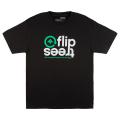 FLIP TREES TEE / BLACK