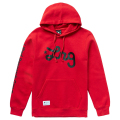 LIFTED SCRIPT PULL OVER HOODIE / RED