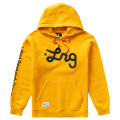 LIFTED SCRIPT PULL OVER HOODIE / GOLD