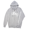 WESTERN SCRIPT ZIP HOODIE / ATHLETIC HEATHER