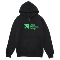 TREE UNIT ZIP HOODIE / BLACK