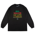ALL WALKS OF LIFE  LS TEE / BLACK