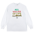 ALL WALKS OF LIFE  LS TEE / WHITE