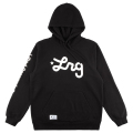 LIFTED SCRIPT PULL OVER HOODIE / BLACK