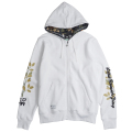 "BRANCHING OUT ZIP HOODIE ""WHITE"""
