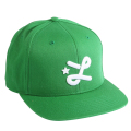 "DOWN WITH L SNAPBACK HAT ""KELLY GREEN"""